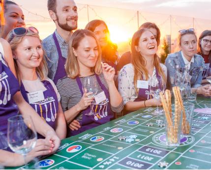 Вечер винного казино